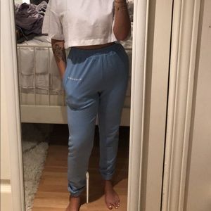 Missguided Baby Blue Sweatpants
